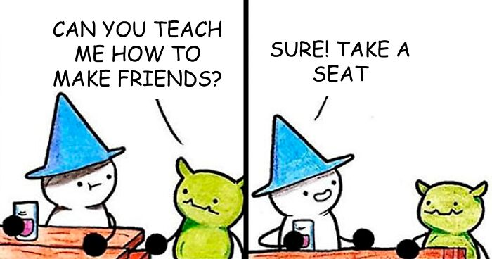 19 Wholesome Comics About A Mage Who's All About Friendship