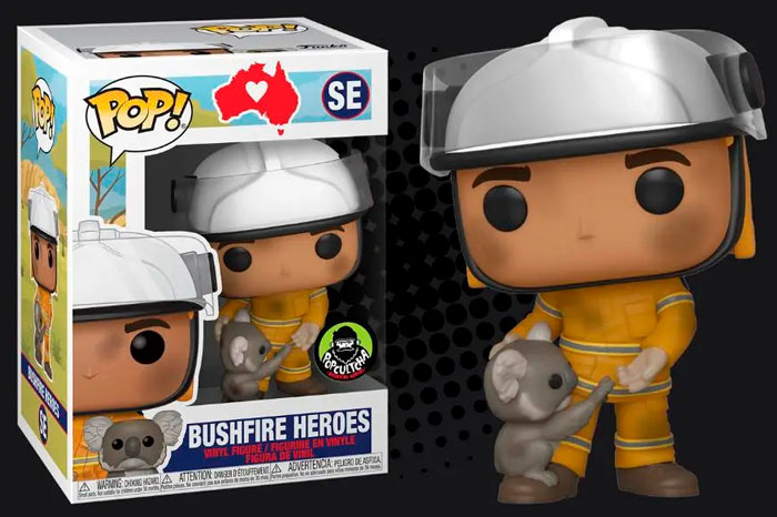 Australian Firefighters Honored With Their Own Funko Pop Figures To Raise Funds For Animals Impacted By Bushfires