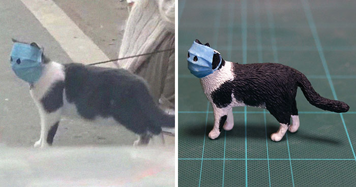 Japanese Artist Turns Hilarious Animal Moments Into Sculptures, And The Result Makes Them Even Funnier (30 Pics)