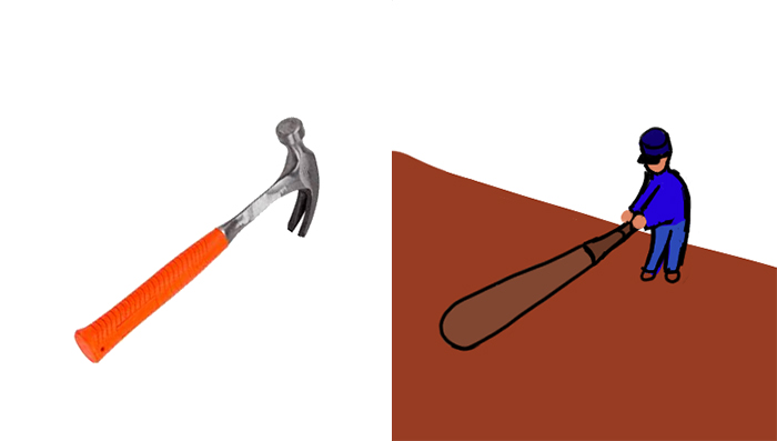 Ever Notice How A Hammer Looks Like A Man About To Swing A Baseball Bat?