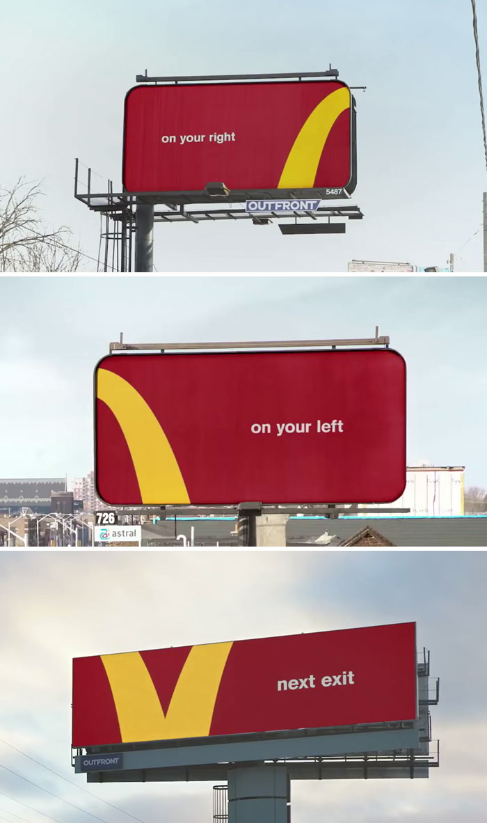 Designers Used McDonald's Arches As Direction Markers To The Restaurants