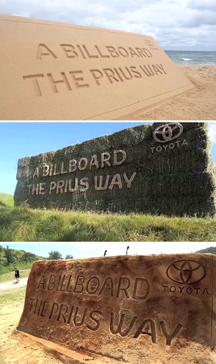 The Billboards That Came From Nature And Went Back To Nature For Toyota Prius Ad Campaign