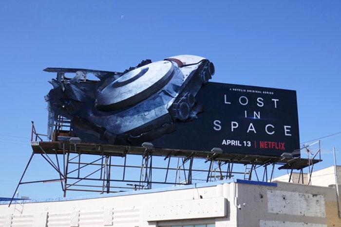 Lost In Space Ship Crash Billboard