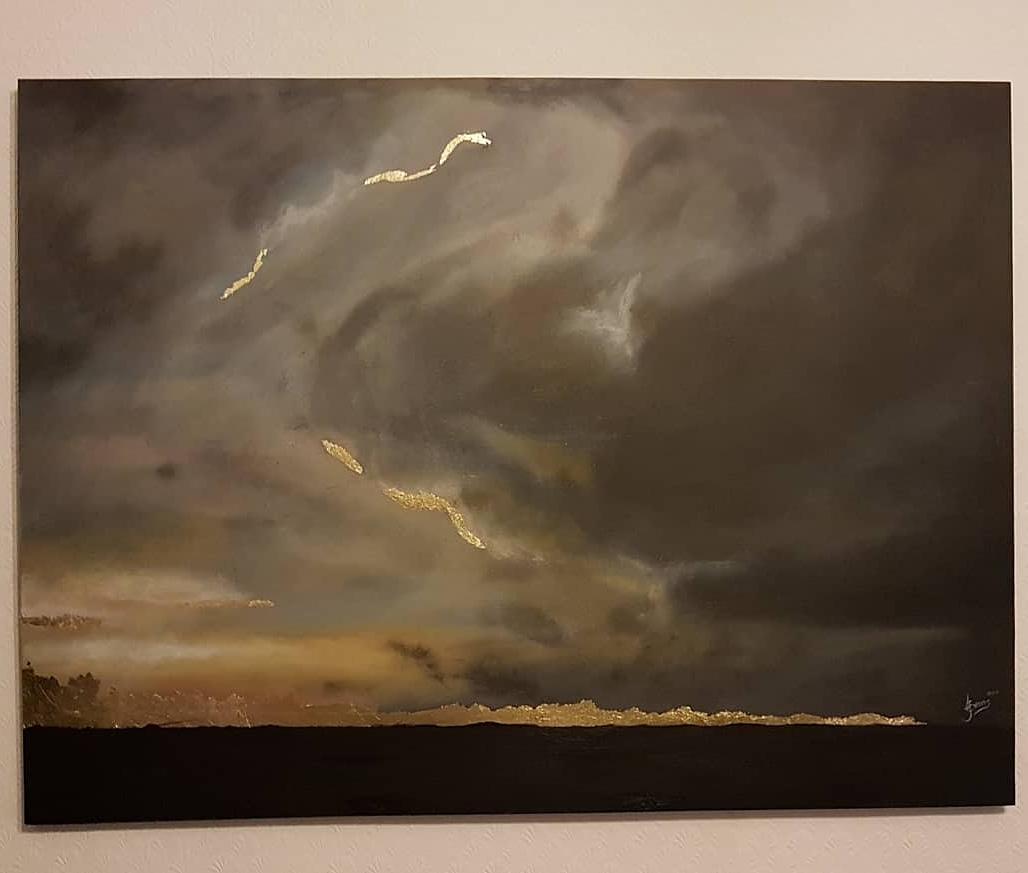 Art, Storm Cloud Painting.