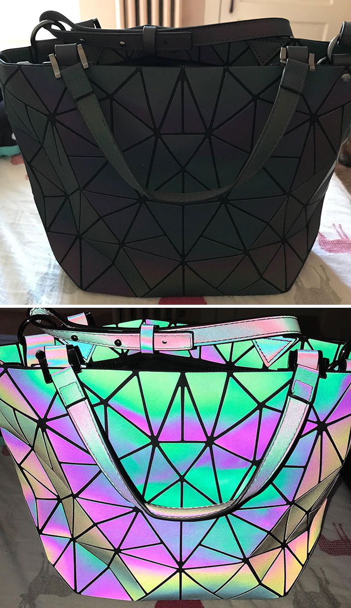 I Got A New Purse Today. Top Is Without Flash, Bottom Is With Flash