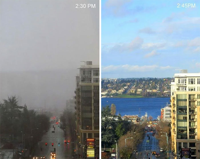 15 Minute Difference In Seattle Weather