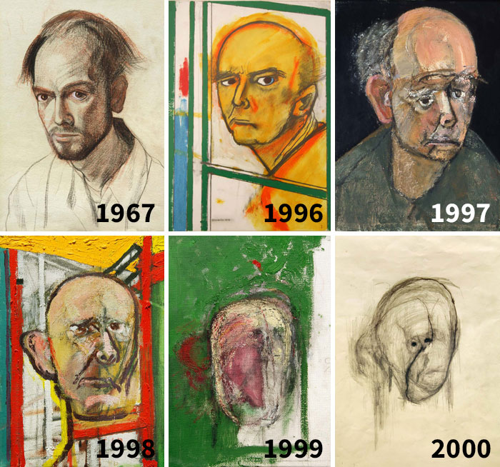 William Utermohlen Was Diagnosed With Alzheimer's Disease. He Drew Self-Portraits Until He Could Barely Recognize His Own Face