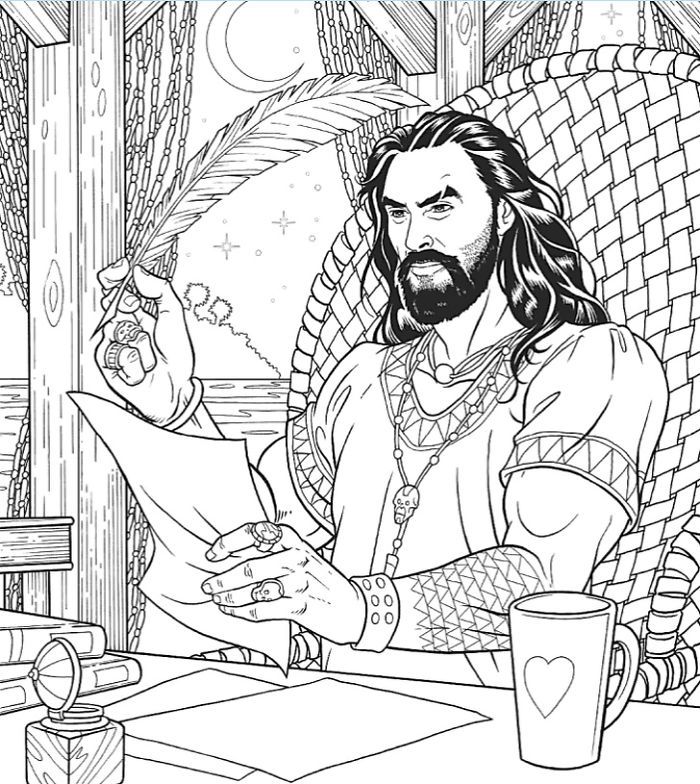 A Jason Momoa Coloring Book Exists And It Is Supposed To Ease Your Stress Bored Panda