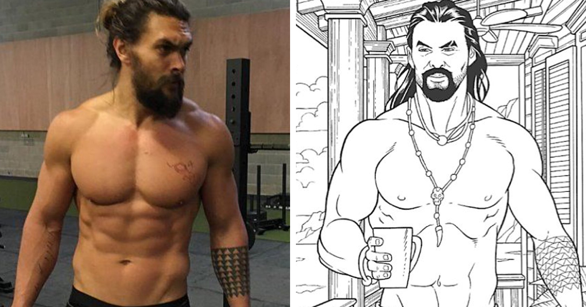 You Can Now Buy A Jason Momoa Coloring Book On Amazon To Ease The Stress Of Being Single On Valentine's Day