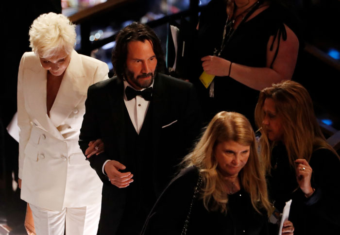 Keanu Reeves Steals The Red Carpet Show At The Oscars By Bringing His Mother As His Date