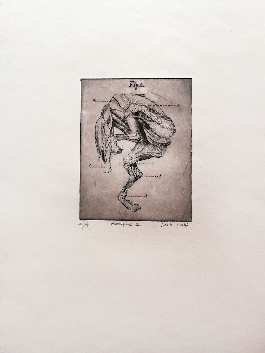 """My Drypoint """"Metadogs"""""""