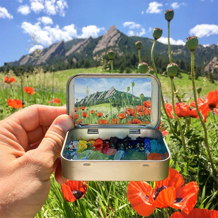 Artist Creates 30 Mini Plein Air Paintings In Altoids Tins