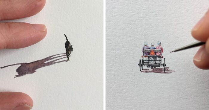 Artist Creates Detailed Miniature Paintings Of Everyday Things (96 Pics)