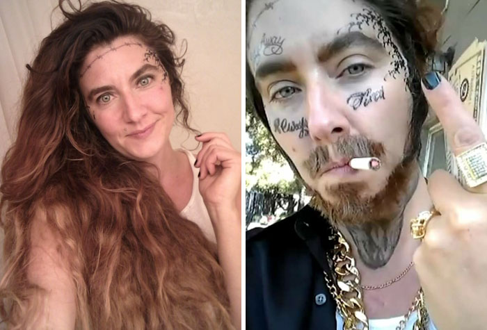 This 40-Year-Old Mom Pranks Kids By Dressing Up As Post Malone Making Everyone Think She's Their Dad