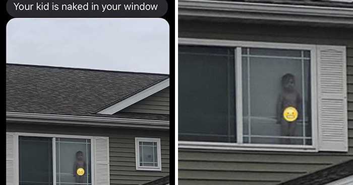 """Your Kid Is Naked In Your Window:"" Neighbor Texts Mom A Pic Of Her 2-Year-Old, And Their Exchange Is Hilarious"