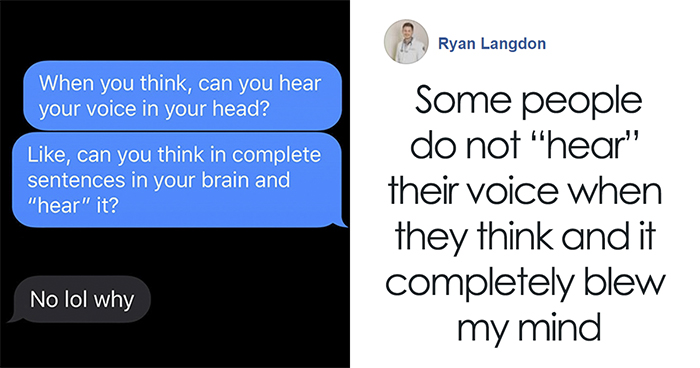 Guy Finds Out Not Everyone Has An Internal Monologue With Themselves And It Ruins His Day