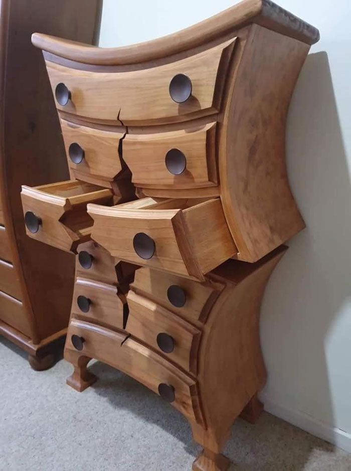 This Retired Cabinet Maker Goes Viral, One Of A Kind Furniture