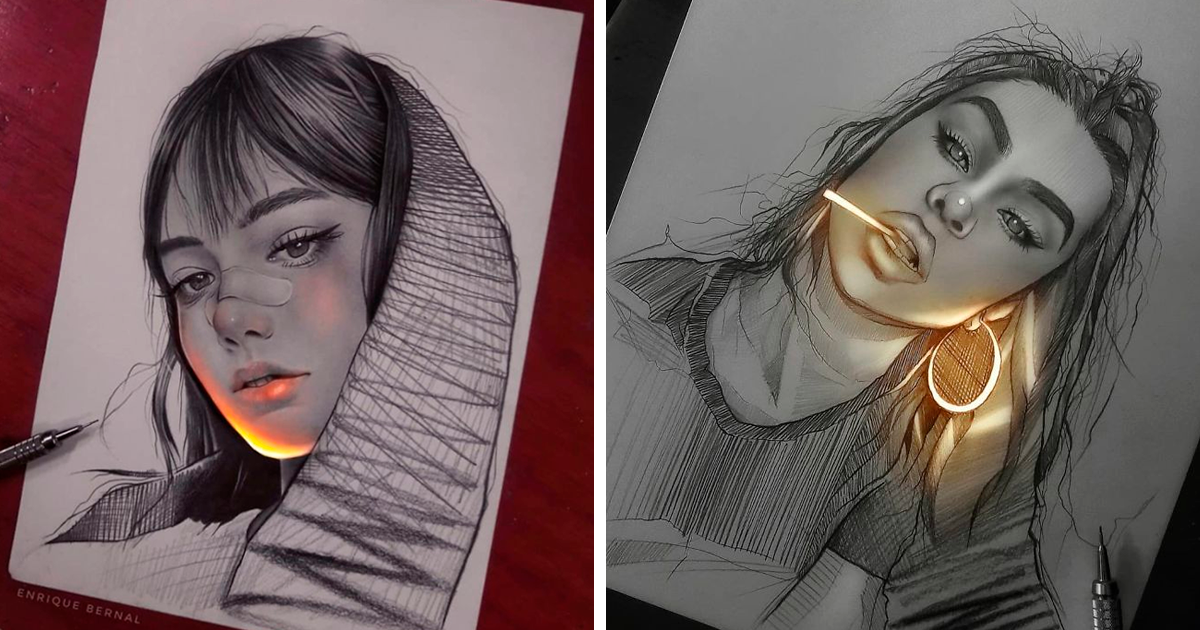 Artist Makes His Pencil Drawings Glow With Life, And They're Mesmerizing (25 Pics)