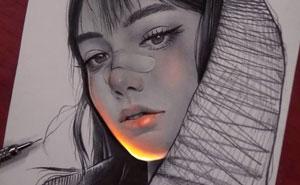 Este artista mexicano consigue que sus dibujos reluzcan con una técnica única, y el resultado es alucinante