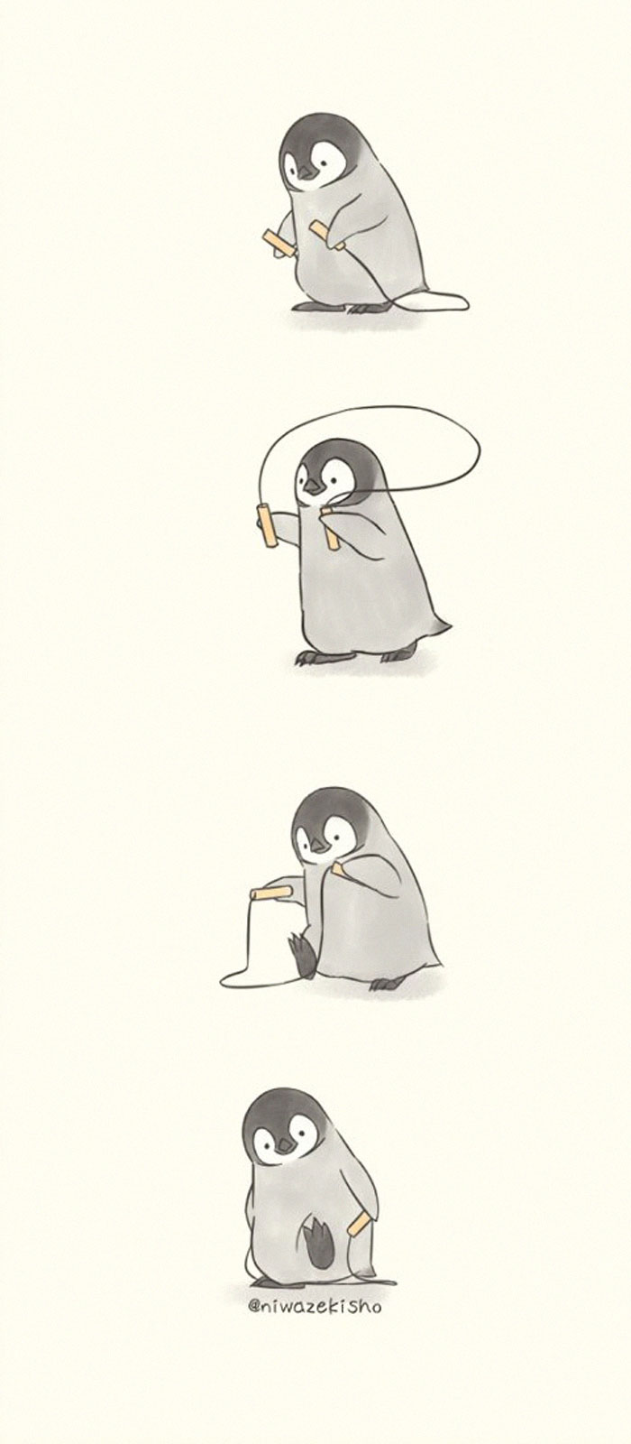 This Artist Draws Comics About A Little Penguin Who Fails At Basic Life Tasks, Except Being Super Cute (30 Pics)