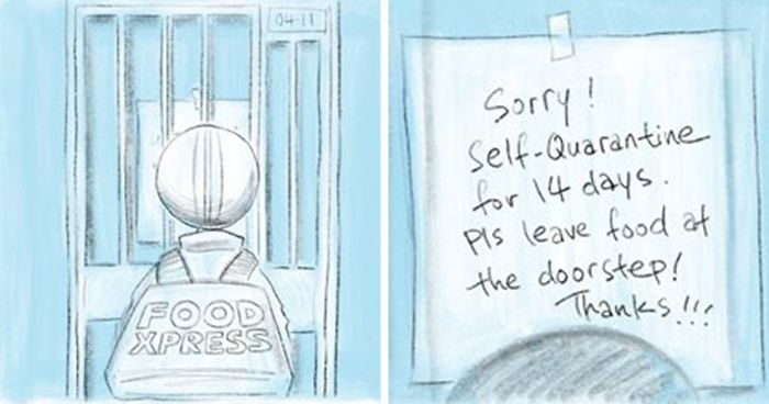 I Created This Series Of Comics And Artwork In Response To The Coronavirus Epidemic