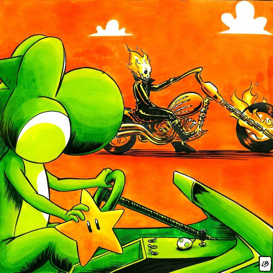 Yoshi vs. Ghost Rider
