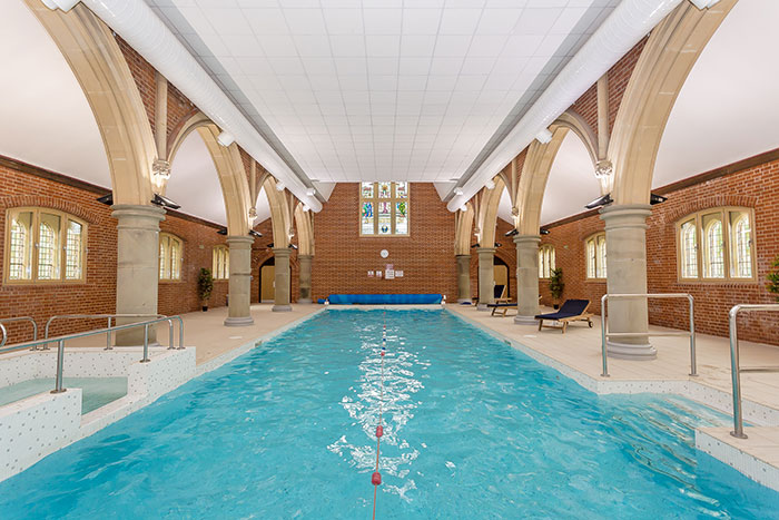 Swimming Pool In Old Church: Netherne, Surrey