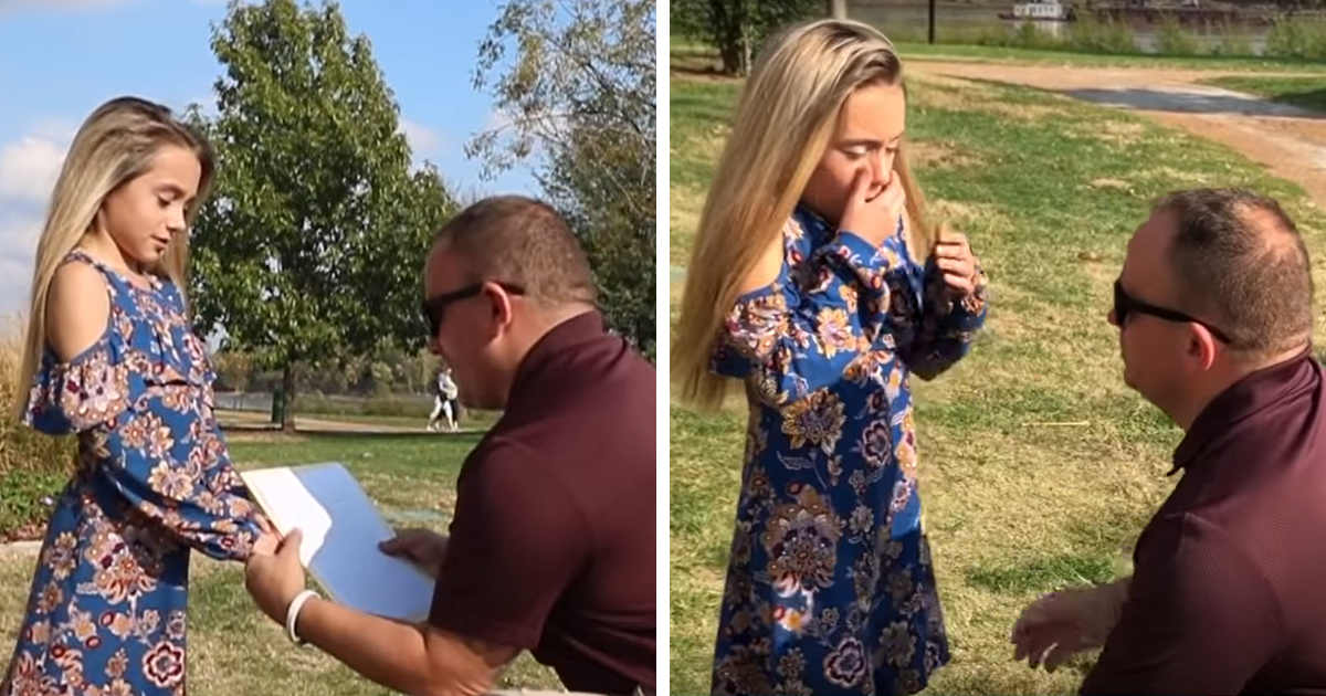 This Man Found The Sweetest Way To Tell His New Wife's Daughter He's Adopting Her