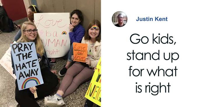 Students Leave Classrooms And Sit On The Floor In Protest Against Forced Resignation Of Two Gay Teachers