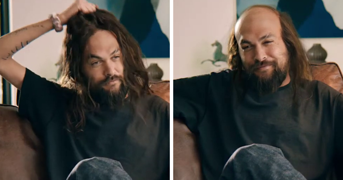 Balding Jason Momoa Takes Off His Muscles In A Freaky Super Bowl Ad Bored Panda