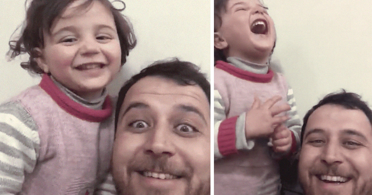 Syrian Dad Invents A Tragic Laughter Game To Distract Daughter Every Time There's An Explosion