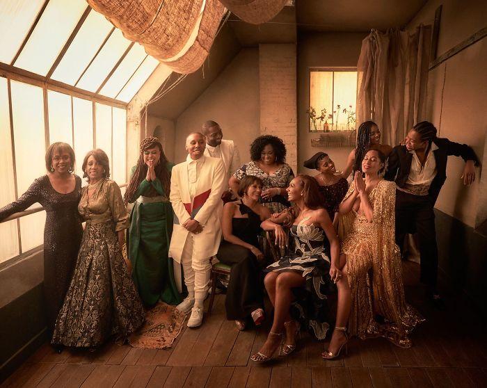 From Left To Right: Anita Hill, Maxine Waters, Ava Duvernay, Dwayne Wade, Lena Waithe, Rashida Jones, Shonda Rhimes, Janet Mock, Janizca Bravo, Tracee Ellis Ross, Gabrielle Union, Jeremy O. Harris