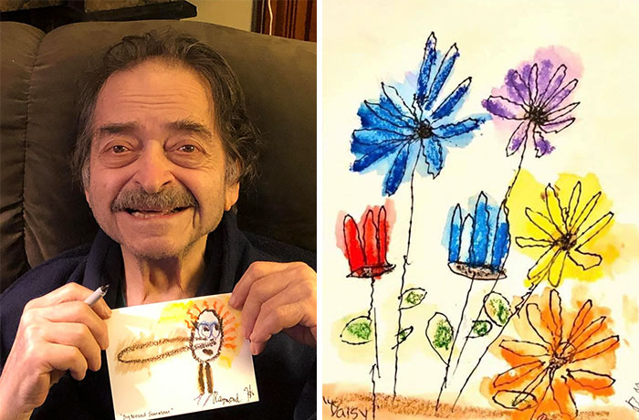 92-Year-Old War Veteran Starts Drawing To Save Money For This Mother Who's Been Diagnosed With Cancer