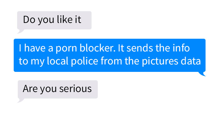 Man Sends This Woman An Unsolicited Pic, She Responds By Saying An App Sent It To The Police