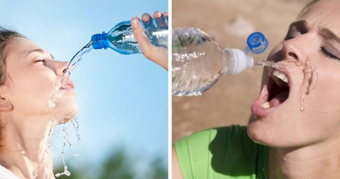Women Have No Clue How To Drink Water According To These Stock Photo Gems (36 Pics)
