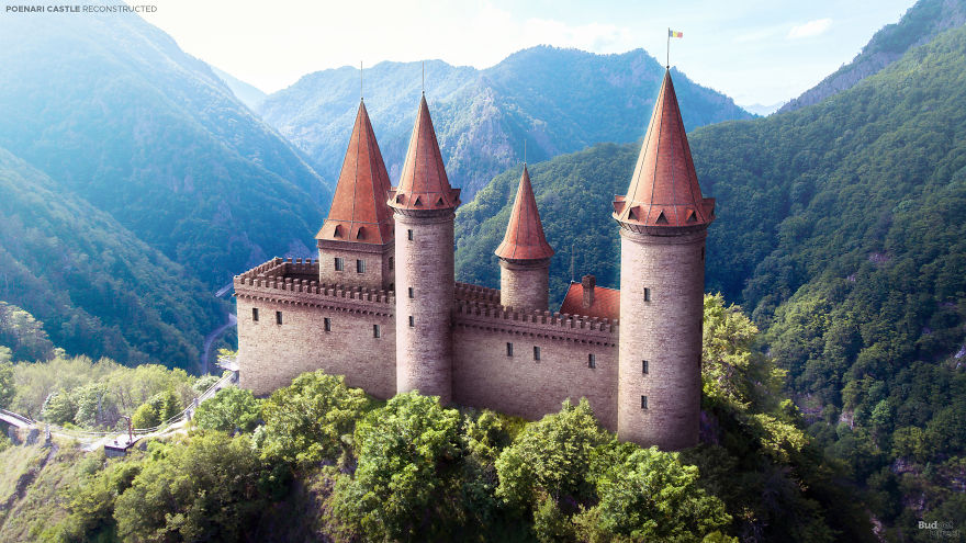 Dvorac Poenari (Tvrđava Poenari), Valachia, Rumunjska