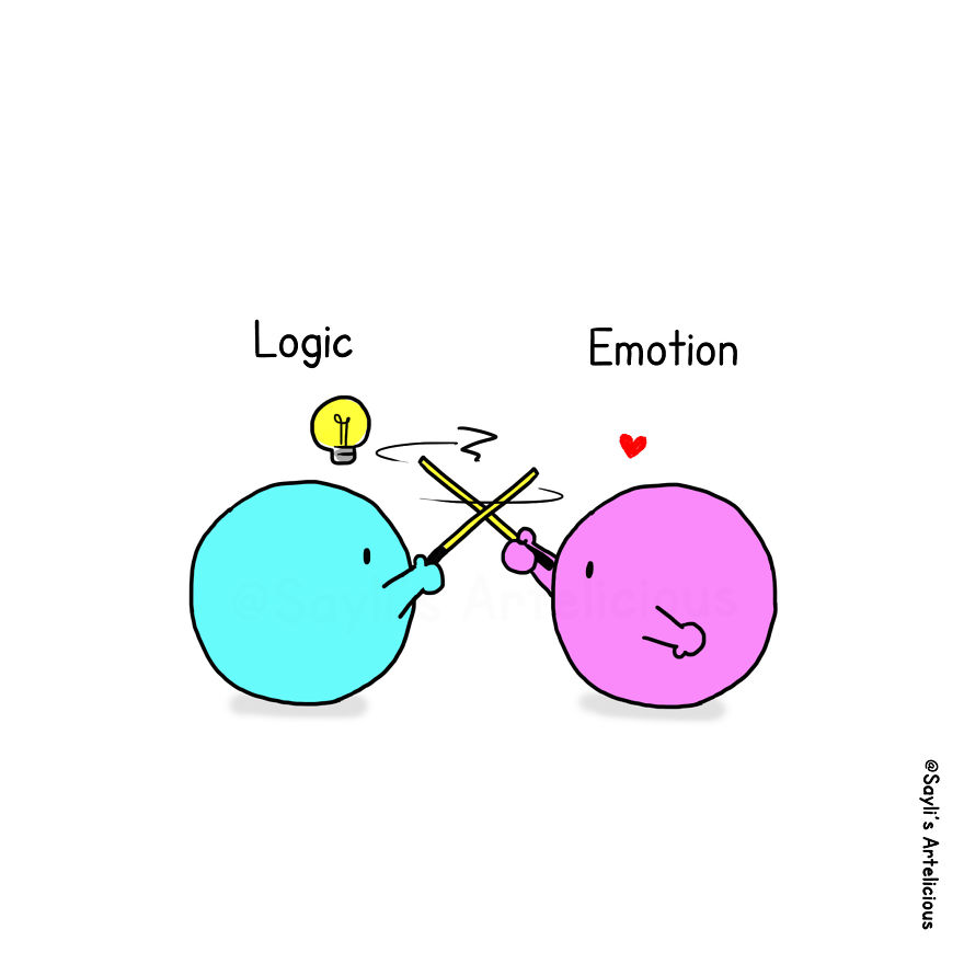 8 Illustrations To Show How Emotion Always Win Over Logic