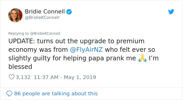 Dad Gets Airlines To Prank His Daughter As Part Of Their Prank War That's Been Going On For Over 15 Years