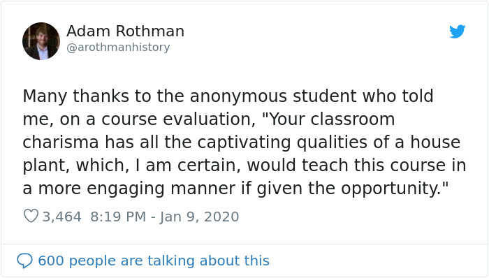 20 Times Professors And Teachers Received Unusually Honest Course Evaluations