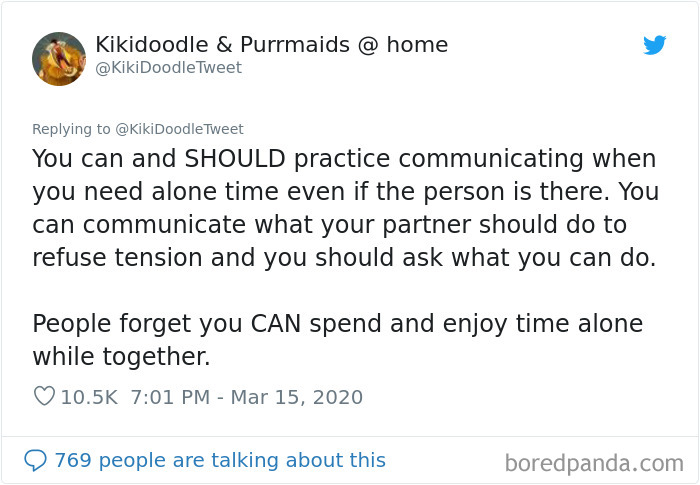 Woman Offers Advice To People Who Are Staying At Home With Their Spouse During The Coronavirus Quarantine