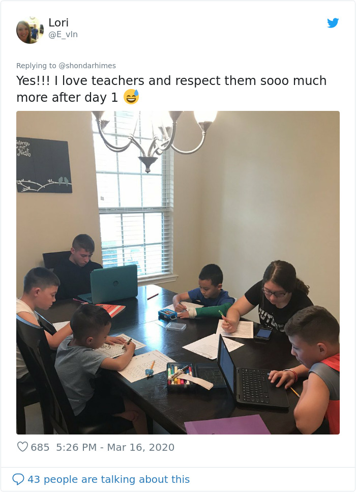 After Being Forced To Homeschool Their Children Due To Coronavirus, Parents Realize That Teachers Deserve More Respect