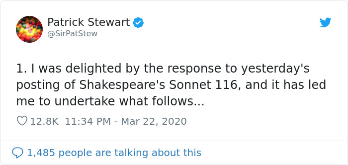 You Can Now Tune In To Sir Patrick Stewart Reading Shakespeare On Twitter