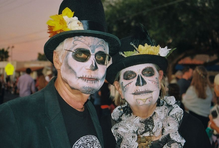 Couple With Face Paint