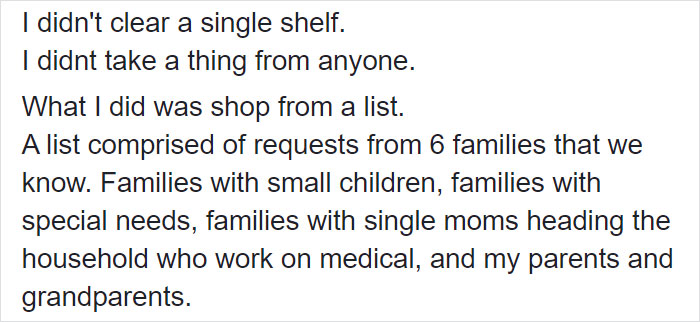 Woman Gets Accused of Being A Hoarder For Buying $1,100 Of Groceries, Explains That She's Actually Buying For 6 Families