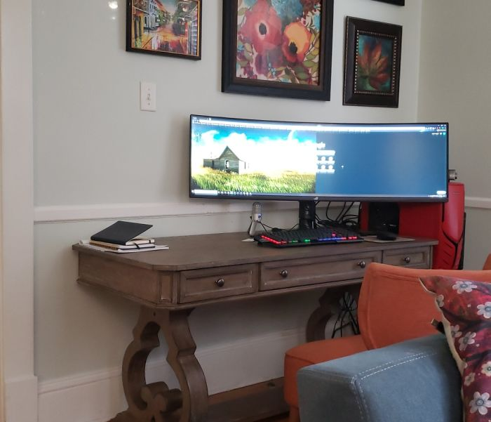 Home Office After I Traded In My Two Monitors For One