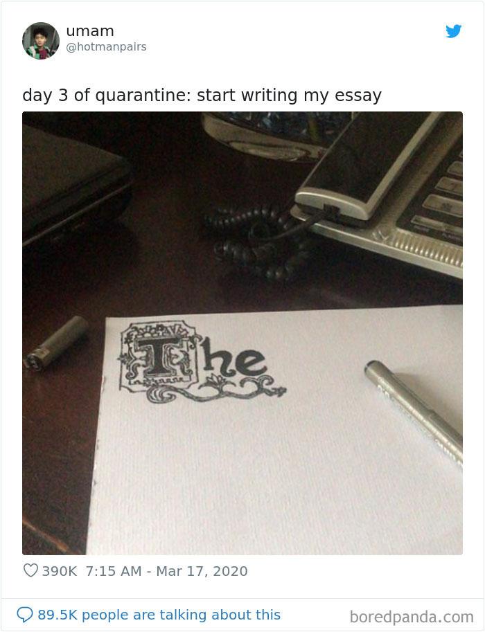 Day 3 Of Quarantine