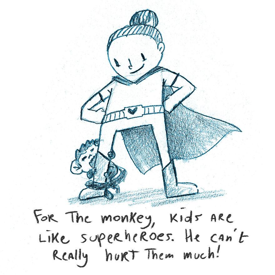 I Drew A Little Monkey Story To Explain Coronavirus To My Kids