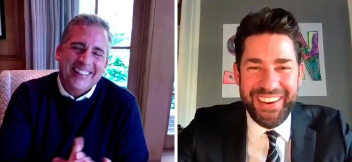 John Krasinski Shares Some Good News, Invites Steve Carell To Lift Up People's Spirits
