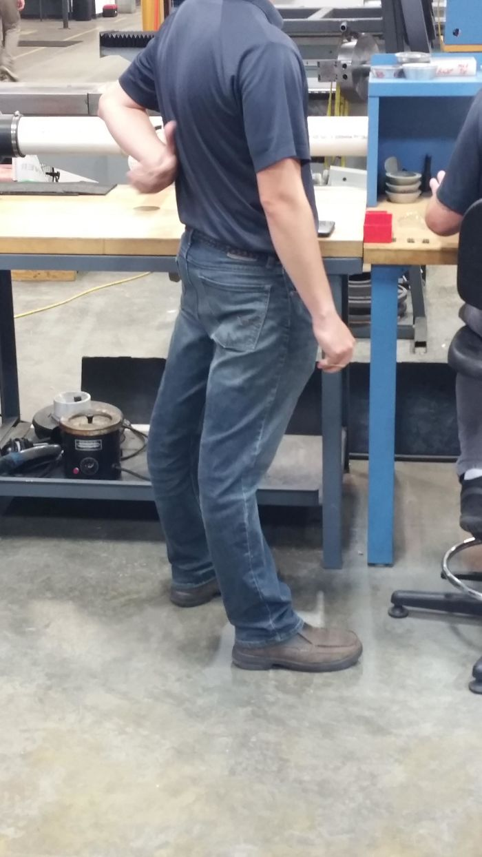 The Way My Coworker's Knees Bend