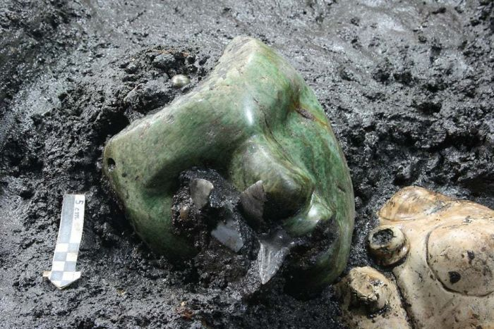 2000-Year-Old Green Serpentine Stone Mask Found At The Base Of The Pyramid Of The Sun, Teotihuacán, Mexico